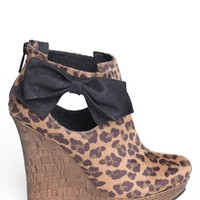 Chaz Leopard Wedge Bootie - $79.00 : ThreadSence.com, Your Spot For Indie Clothing  Indie Urban Culture
