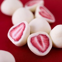 Dip strawberries in yogurt, freeze