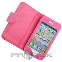 Amazon.com: Hot Pink Leather Folio Folding Case Cover w/ Screen Protector Films for Apple iPod Touch 4th Gen Generation 4G 8GB 32GB 64GB: Cell Phones & Accessories