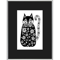 Take 20 OFF Details in Listing Folk Art Cat by MyDifferentStrokes
