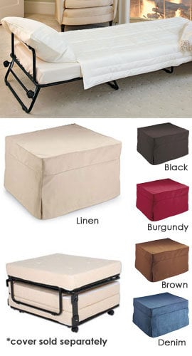 Fold out ottoman bed folding bed ottoman from solutions my - Fold out beds for small spaces ideas ...