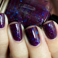No Whine Left  Wine Colored Glitter Nail Polish  05 by KBShimmer