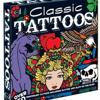 Classic Tattoos: Over 50 Temporary Tattoos including Glitter and Glow-in-the-Dark (Tattoo Boxes)
