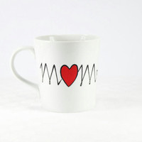 Valentine&#x27;s Gift  for Mom Personalized Ceramic Mug Hand Painted tea cup  Gift for   Mom mug white kitchen decor Decorative Art