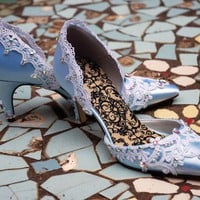 Cinderella Something Blue Bridal shoes by TheCrystalSlipper