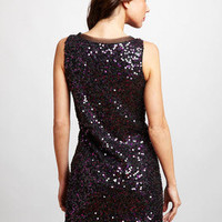 ideeli | LOVE, CARMEN Sleeveless Dress with Sequin Embellishment