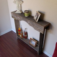 Skinny Console Table. Small Entry Table Rustic Furniture. Reclaimed Wood Furniture. Apartment Furniture. Eco Furniture