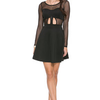 Foreign Exchange :: NEW ARRIVALS :: BLACK MESH OF SEXINESS FLARE DRESS