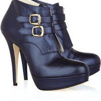 Abel Munoz Double-strap leather ankle boots - 66% Off Now at THE OUTNET