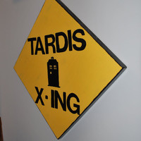 Tardis Crossing Sign
