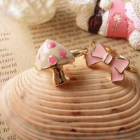 Mushroom  Bow 2pc Ring