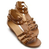 My Associates Store - Ollio Womens Shoes Gladiator Wedge Low Heels Ankle-Strap Multi Colored Sandals