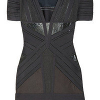 Herv? L?ger Multi-patterned bandage dress - 65% Off Now at THE OUTNET