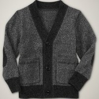 Marled elbow patch cardigan | Gap