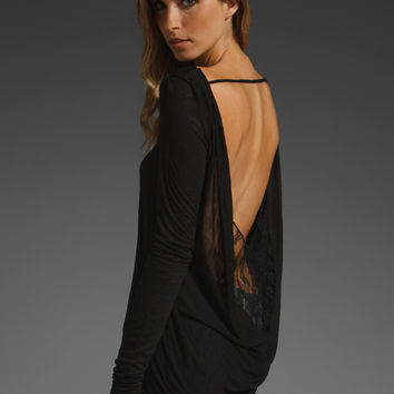 BLUE LIFE Long Sleeve Drape Back Sexy Top in Black at Revolve Clothing - Free Shipping!