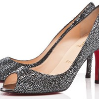 Christian Louboutin You You 85mm Hematite Pumps [2011121101] - $188.00 : Christian Louboutin Shoes Sale, Enjoy 77% Off On Designer Outlet