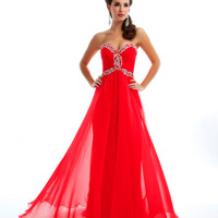 Mac Duggal Prom 2013 - Strapless Cherry Gown With Sequin - Unique Vintage - Cocktail, Pinup, Holiday &amp; Prom Dresses.