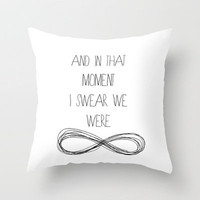 The Perks Of Being A Wallflower, Stephen Chbosky Throw Pillow by Gabsnisen | Society6
