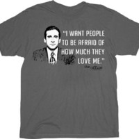 The Office I Want People To Be Afraid Charcoal T-shirt Tee