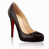 Christian Louboutin Rolando Hidden-Platform Black Pumps - $156