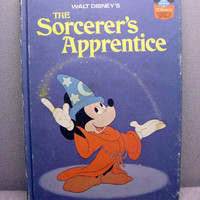 1973 The Sorcerers Apprentice Vintage Disney Book by VintageWoods