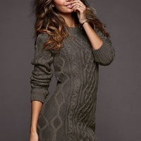 Slouchy Cable Sweaterdress - Victoria&#x27;s Secret