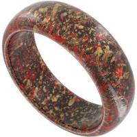 "Bangle Bracelet Vintage 1980s Splatter Paint Red Gold Color Italy Wide 1"" - Like Love Buy"