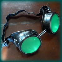 Priority Mail-Steampunk  goggles glasses Time Travel Crazy Scientist&#x27;s Oculo-Vision Tool welding cyber punk biker gothic rave