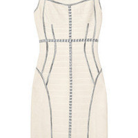 Herv Lger Two-tone bandage dress - 65% Off Now at THE OUTNET