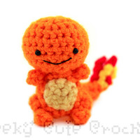 Charmander Pokemon Amigurumi - MADE TO ORDER