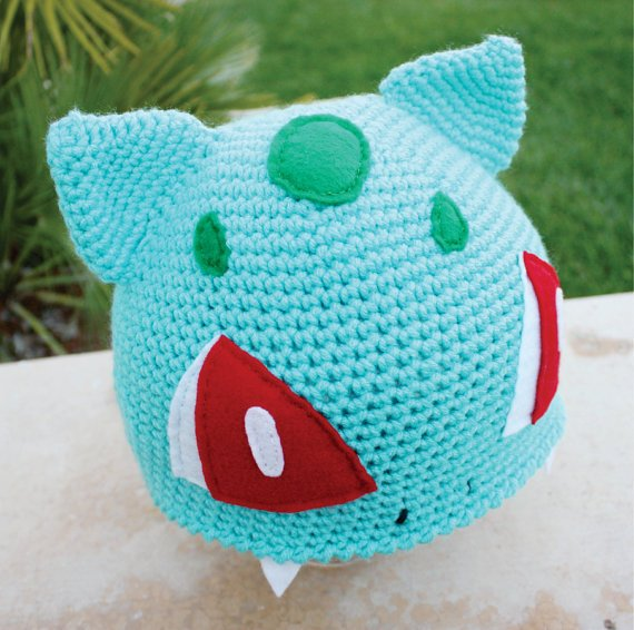 Crochet Patterns Pokemon : Bulbasaur Pokemon Inspired Hat With Onion from littlepopos on