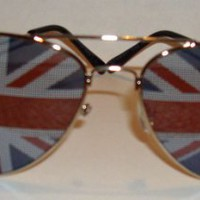 British Flag Aviator Sunglasses Glasses