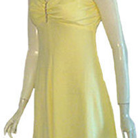 Yellow 70s Disco Mini Dress