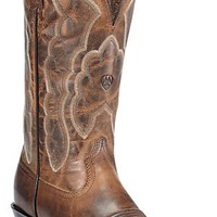 Ariat® Ladies Sassy Distressed Brown Heritage R-Toe Traditional Toe Western Boots