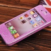 Pink Shiny Rhinestone Fashion Sticker For iPhone 4S/5