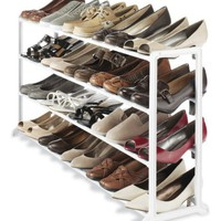 My Associates Store - Whitmor 6780-3139-WHT White Resin 20 Pair Shoe Rack