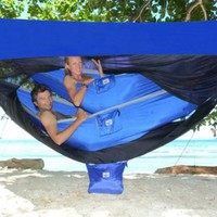 Hammock Bliss Sky Tent 2 - A Revolutionary Tent For 1 or 2 Hammocks Off The Ground - Stay Dry From