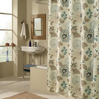 Morgan Floral Easy-Care Polyester Fabric Shower Curtain - Plow & Hearth