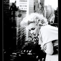 Marilyn Monroe Movie (On Balcony) Poster Print - 24x36 Fashion Poster Print, 24x36