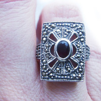 Vintage Victorian Gothic Red Garnet Sterling by BreatheCouture