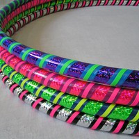 Weighted Hula Hoop for Exercise and Fitness - Glitter