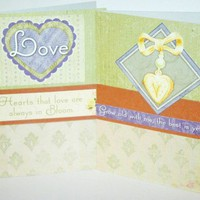 Set of Two  Green Love Themed / Valentines cards