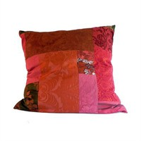 Red Floor Cushion by ao textiles at Seek & Adore