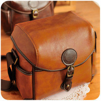 Vintage Brown Leather Ca...