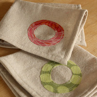 Reusable Cloth Napkins Personalized on by thehighfiberco on Etsy