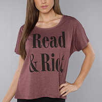 The Read and Riot Tee in Crimson : RVCA : Karmaloop.com - Global Concrete Culture