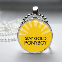 Photo Art Glass Bezel Pendant The Outsiders Stay Gold Ponyboy Necklace