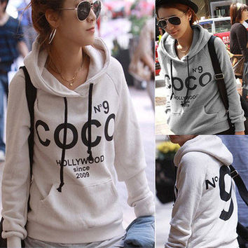 Winter Warm New Womens Print Hoodie Sweatshirt Tracksuit Tops Overcoat Jacket
