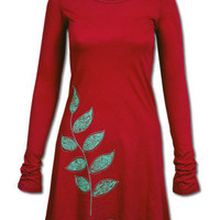 Winter Branch Organic Tunic Dress: Soul-Flower Online Store
