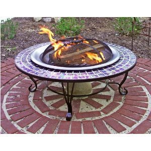 Asia Direct 40-Inch Glass Mosaic Fire Table - AD389